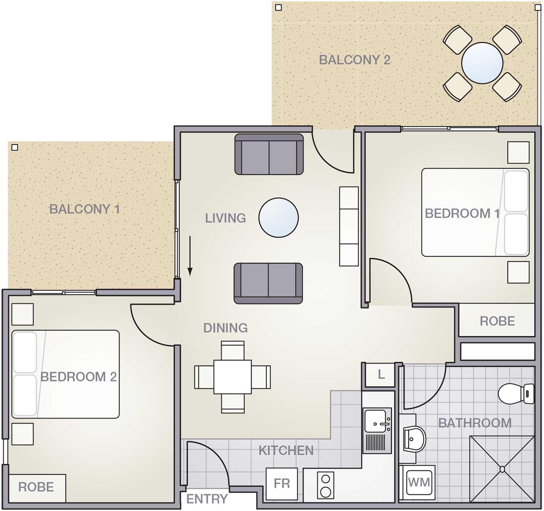 Highview-2Bedroom-E